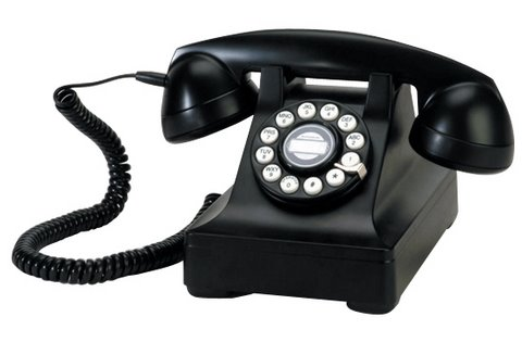 Telephones? There's the solid black dial up, very reliable. Plug it ...: http://neoneocon.com/2010/05/28/choices-choices/